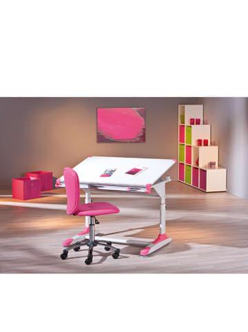 """Inter Link Biurko """"2Colorido"""" w kolorze biało-zielono-różowym - 100 x 69 x 66 cm"""