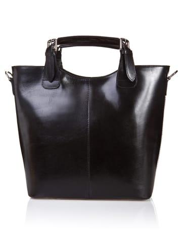Massimo Castelli Leren handtas zwart - (B)30 x (H)42 x (D)14 cm