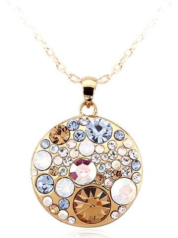 PARK AVENUE NY Pozłacany naszyjnik z kryształami Swarovski - dł. 46 cm