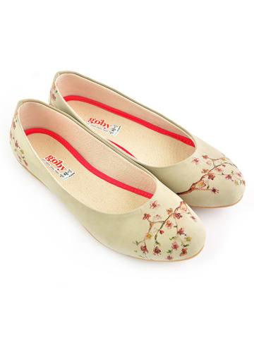 Goby Ballerinas in Beige/ Bunt