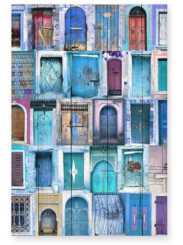 """Really Nice Things Kunstdruk op hout """"Doors"""" - (B)40 x (H)60 cm"""