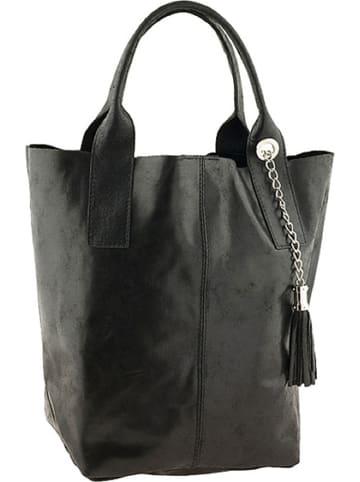 """ORE10 Leren shopper """"Laura"""" zwart - (B)38 x (H)41 x (D)20 cm"""