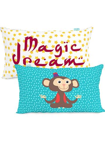 """Mr. Fox Poszewka """"Aladdin"""" w kolorze turkusowo-żółto-bordowym na poduszkę"""
