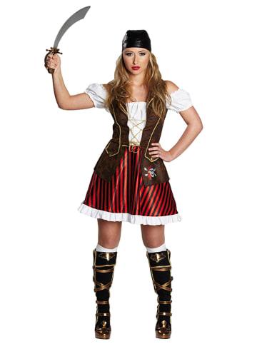 """Rubie`s Sukienka kostiumowa """"Pirate Lady"""" w kolorze czerwono-czarnym"""