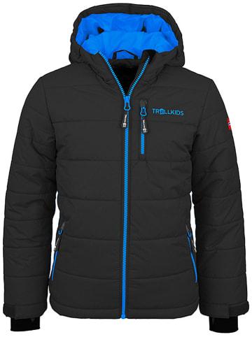 """Trollkids Ski-/snowboardjas """"Hemsedal"""" antraciet/blauw"""