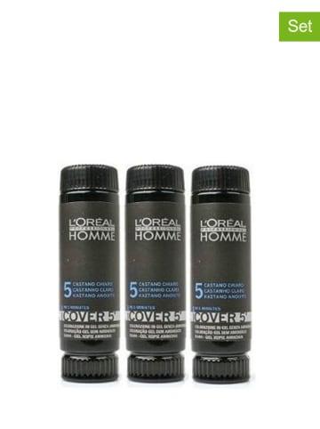 L'Oréal Professionnel Żel do koloryzacji przeciw siwieniu (3 szt.) - 5 Casanho Claro - 50 ml