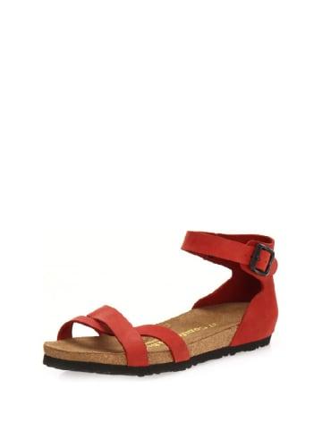 Comfortfusse Skórzane sandały w kolorze czerwonym