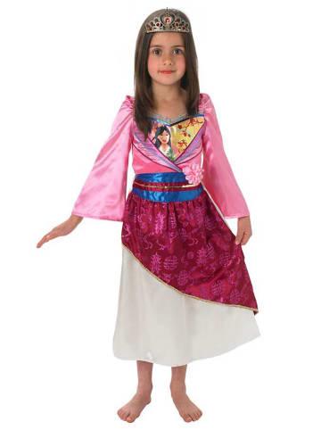 """Rubie`s 2-delig kostuum """"Mulan Shimmer"""" lichtroze/aubergine"""