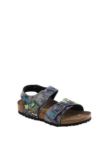 Birkenstock Sandały w kolorze szarym ze wzorem