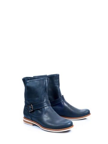 Zapato Leren boots donkerblauw