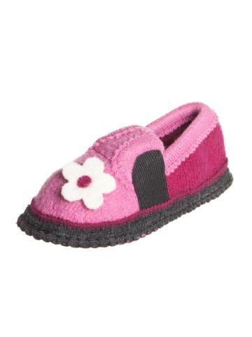"Kitz-pichler Hausschuhe ""Bobby - Blume"" in Rosa/ Pink"