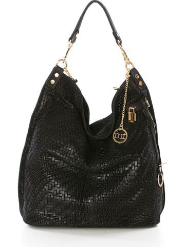 """Mia Tomazzi Leren shopper """"Niguarda"""" zwart - (B)42 x (H)38 x (D)17 cm"""
