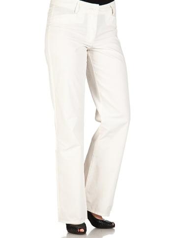 """Million X Lekkie spodnie """"Vera"""" w kolorze kremowym"""