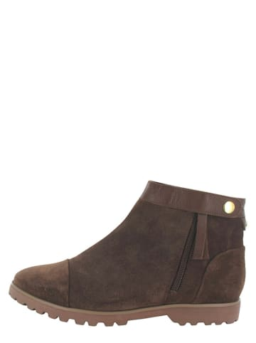 "Flip Flop Leder-Ankle-Boots ""Taxim"" in Braun"