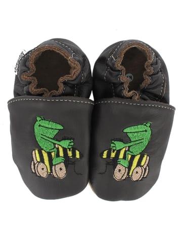 Janosch Skórzane buty niemowlęce w kolorze brązowym