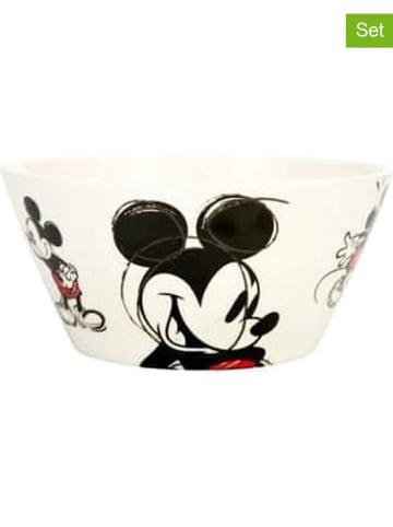 """Zak! designs Disney 2er-Set: Schalen """"Disney Classic Mickey"""" in Creme/ Schwarz - (H)10 x Ø 17 cm"""