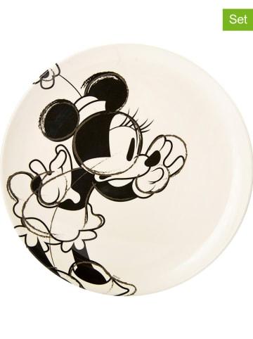 """Zak! designs Disney 2er-Set: Speiseteller """"Disney Classic Minnie"""" in Creme/ Schwarz - Ø 25,5 cm"""