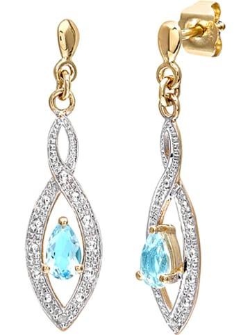 Revoni Gold-Ohrstecker mit Diamanten
