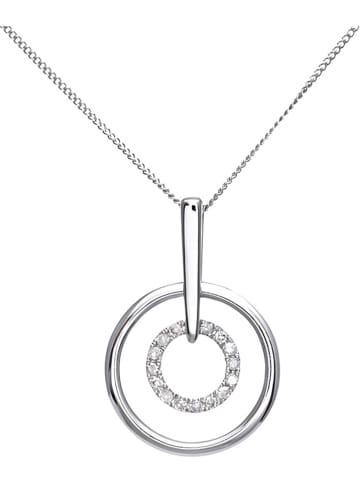 Revoni Witgouden ketting met diamanten hanger - (L)46 cm