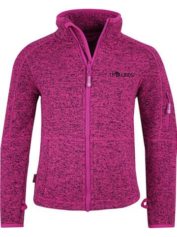 """Trollkids Fleece vest """"Jondalen"""" roze"""