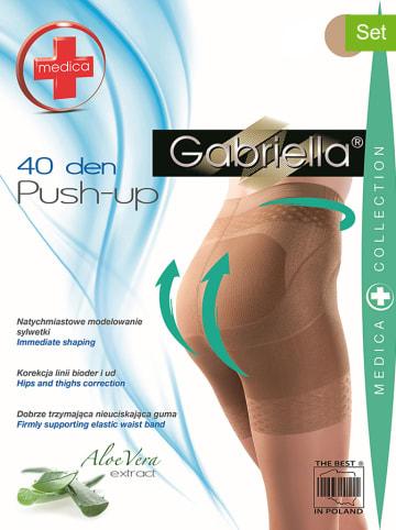 "Gabriella 2er-Set: Shape-Strumpfhosen ""Push Up"" in Nude - 40 DEN"