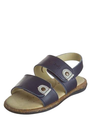 Billowy Skórzane sandały w kolorze granatowym