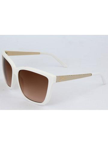 Guess Damen-Sonnenbrille in Weiß/ Braun