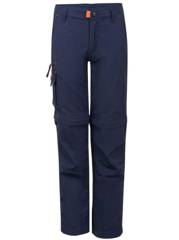 """Trollkids Spodnie trekkingowe Zip-off """"Oppland"""" w kolorze granatowym"""
