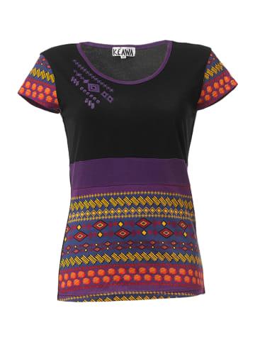KÉAWA Koszulka w kolorze czarno-fioletowym