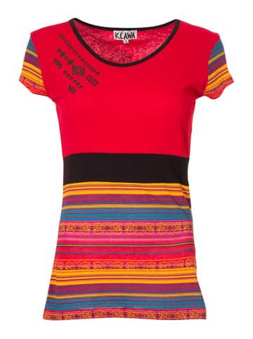 KÉAWA Koszulka w kolorze czerwonym ze wzorem