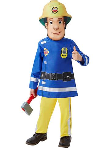 """Rubie`s 4-częściowy kostium """"Fireman Deluxe"""" w kolorze niebiesko-żółtym"""