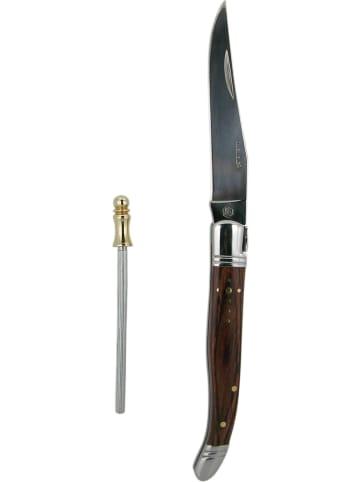Laguiole Scyzoryk w kolorze brązowym - dł. 10 cm
