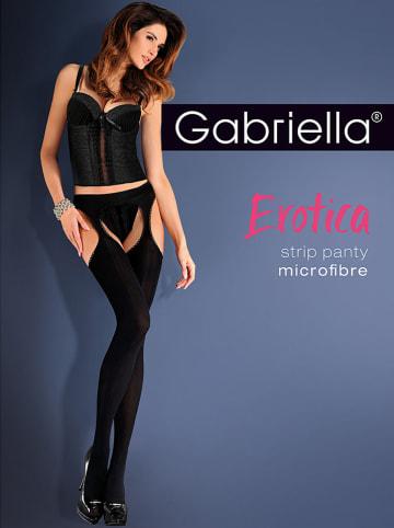 "Gabriella Cut-Out-Strumpfhose ""Erotica"" in Schwarz - 50 DEN"