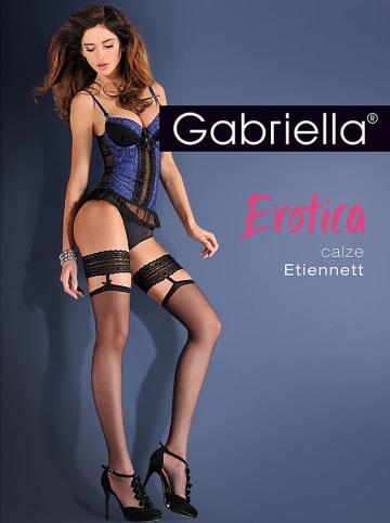 """Gabriella Halterlose Strümpfe """"Erotica Etiennet"""" in Schwarz - 20 DEN"""