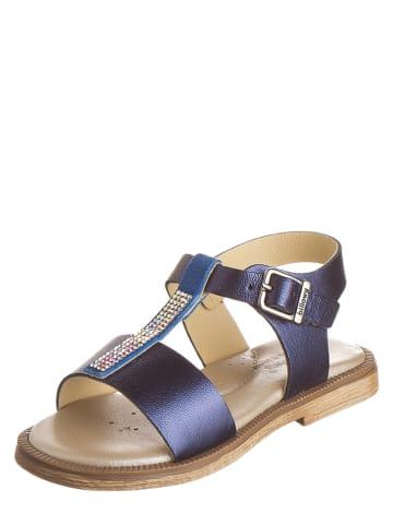Billowy Leren sandalen donkerblauw