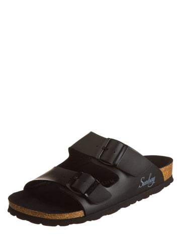 "Sunbay Slippers ""Trefle"" zwart"