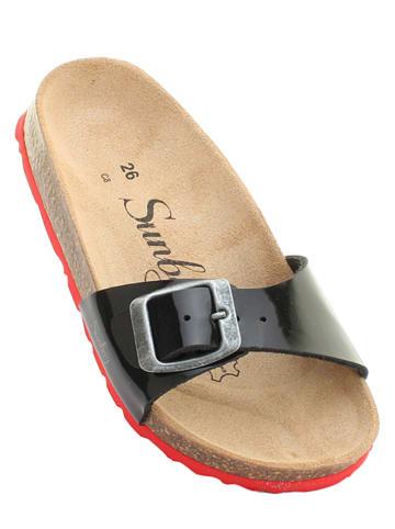 "Sunbay Slippers ""Jasmin"" zwart/rood"