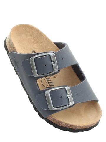 """Sunbay Slippers """"Trefle"""" donkerblauw"""
