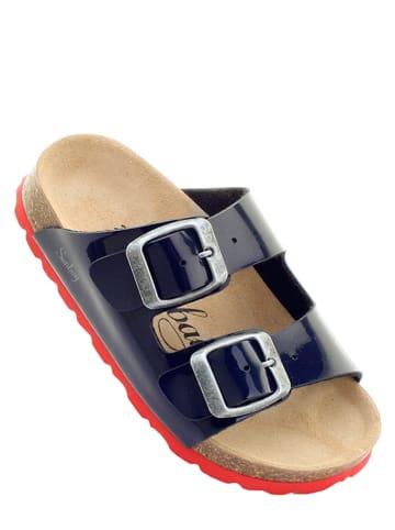 "Sunbay Slippers ""Trefle"" donkerblauw/rood"