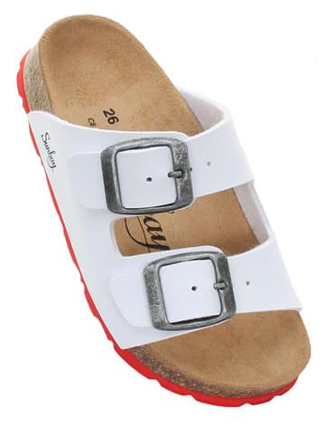 "Sunbay Slippers ""Trefle"" wit"