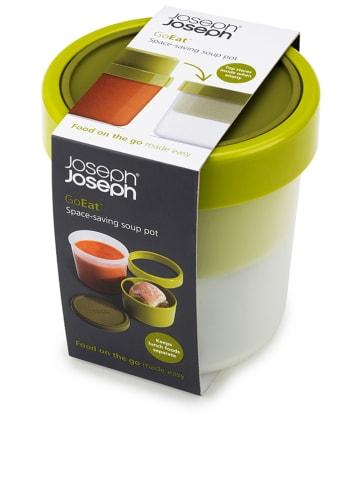 """JosephJoseph 2-in-1 soepbox """"GoEat"""" groen - (H)17,4 x Ø11 cm"""