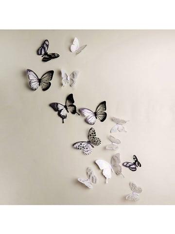 """Ambiance 3D-Wanddeko """"Schmetterlinge"""" - 18 Stück"""