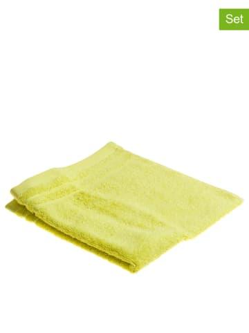 """Schiesser Ręczniki (4 szt.) """"Essential"""" w kolorze zielonym do rąk dla gości"""