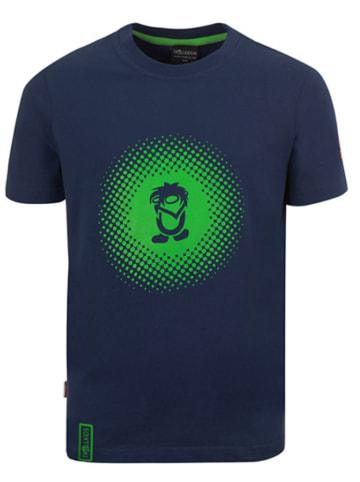 """Trollkids Functioneel shirt """"Pointillism"""" donkerblauw/lichtgroen"""