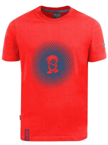 """Trollkids Koszulka funkcyjna """"Pointillism"""" w kolorze czerwono-niebieskim"""