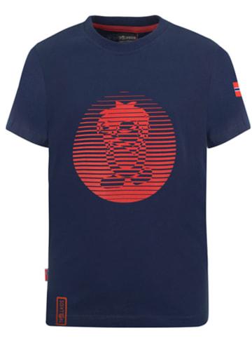 Trollkids Koszulka funkcyjna w kolorze granatowo-czerwonym