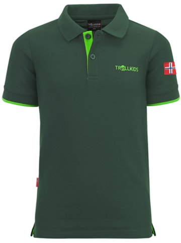"Trollkids Funktionspoloshirt  ""Bergen"" in Grün"
