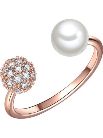 Perldesse Pozłacany pierścionek z perłą i cyrkoniami