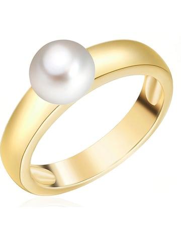 Nova Pearls Copenhagen Vergulde ring met parel