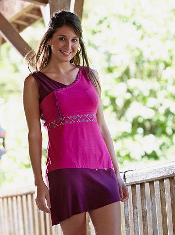 KÉAWA Sukienka w kolorze różowo-fioletowym